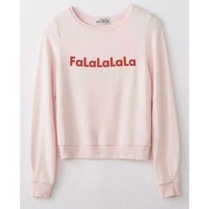 Wildfox FaLaLaLa Pullover Jumper Sweatshirt NWOT